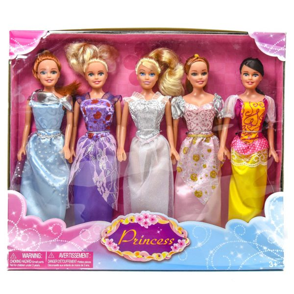 "Princess 11 1/2"" 5pk. Dolls"