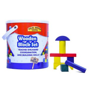 Wooden Block - 65 Pc Bucket