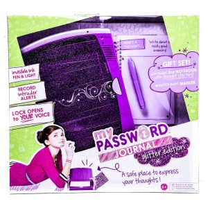 Password Glitter Journal