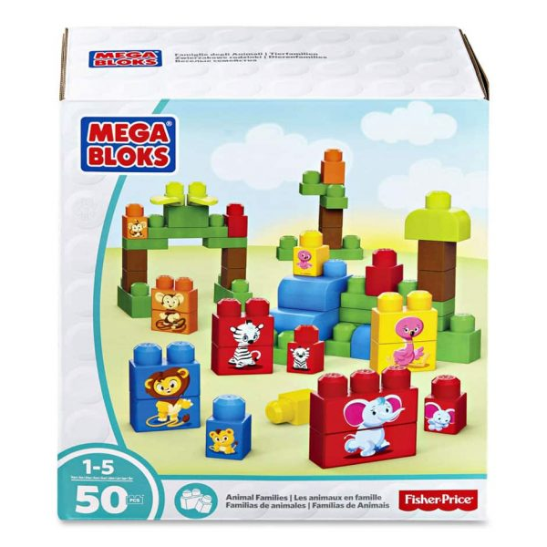 MB Animal Families 50 Pc