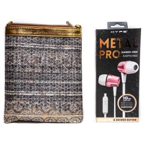 Metal Pro Earphones w/Purse