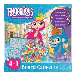 Fingerlings 4 in 1 Board Games