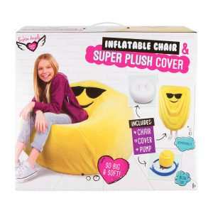 Fashion Angels Emoji Inflatable Chair and Super Plush Cover