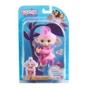 Fingerlings Glitter Monkey Pink Rose