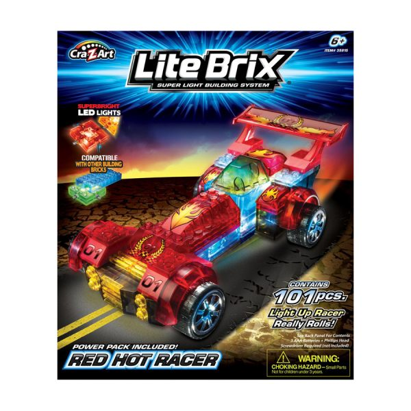 Lite Brix Light Up Racer Asst