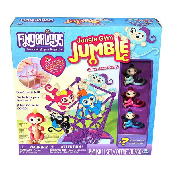 Jungles Gym Jumble Game with Monkey Figures Fingerlings