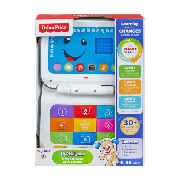 Fisher Price Laugh & Learn Smart Stages Laptop - Grey