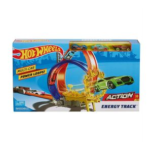 Hot Wheels Energy Track Playset with 3 Cars