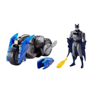Justice League Batman and Flame Blaster Batcycle