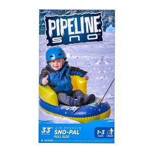 Sno Pal Pull Sled Penguin 33 in Blue Yellow Pipeline