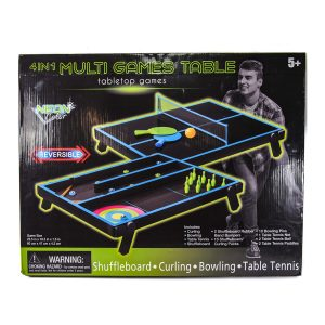 Neon 4 in 1 Multi Games Table