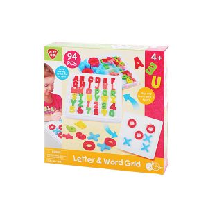 Letter and Word Grid 94 Pcs Playgo