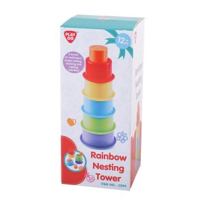 Rainbow Nesting Tower Playgo