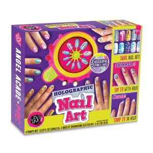 Spin Art Holographic Glitter Nails Kit