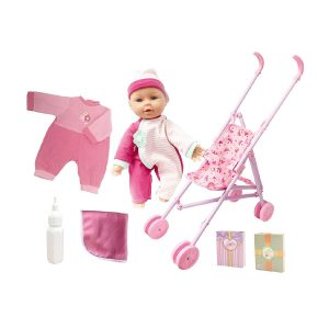 "13"" Sweetums Doll n Stroller Gift Set"