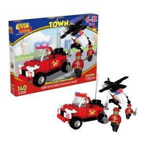Fire Fighter Patrol Building Set 140 Pieces
