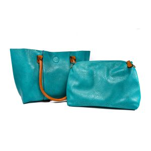 3 In 1 Teal Tote Purse Set by Sofia Vitali
