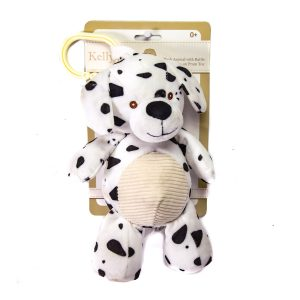 Dalmation Puppy Dog w/Rattle Crinkle Ears Clip Hang