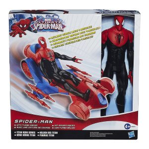12 Inch Spiderman w Turbo Racer
