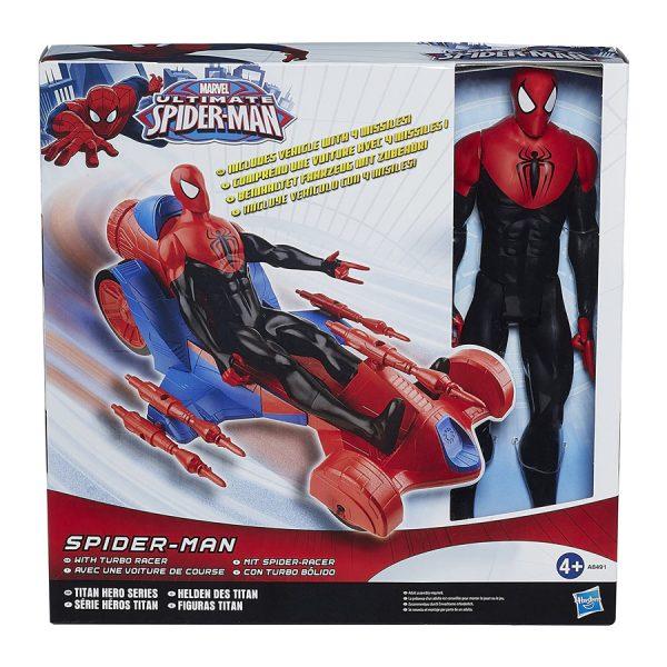 12 Inch Spiderman w Turbo Racer