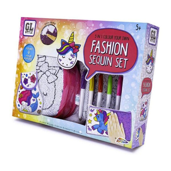 3 in 1 Colour Fashion Sequin Kit