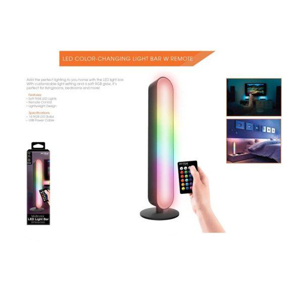 Multi Color LED Light Bar w Remote